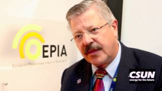 CSUN Solar Energy Interviews - European Photovoltaic Industry Association, Dr. Winfried Hoffmann