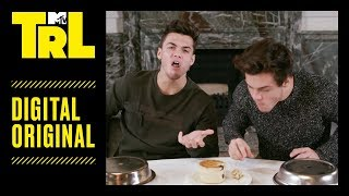 The Dolan Twins Try to Eat Weird British 'Bites' | TRL Weekdays at 4pm