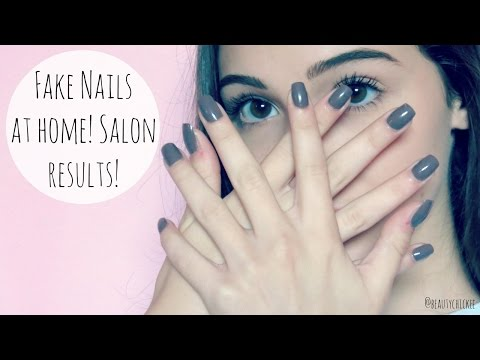 DIY Fake Nails At Home: Salon Results || BeautyChickee