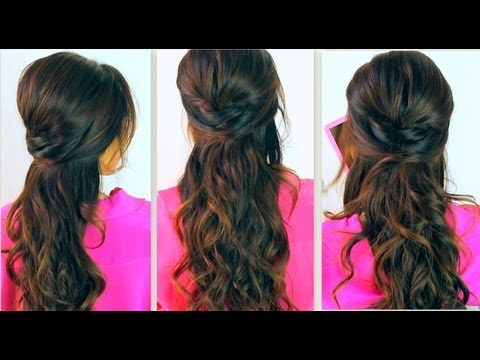 ★ CUTE BACK-TO-SCHOOL HAIRSTYLES | EVERYDAY POOFY CURLY HALF-UP UPDOS FOR MEDIUM LONG HAIR TUTORIAL