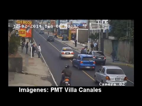 PMT de Villa Canales publica video de policía embestido por automovilista