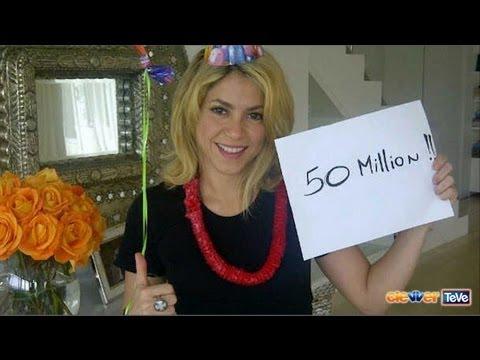Shakira 50 Millones en Facebook!