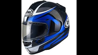 First ride with my new 'Arai Chaser X - Tough Blue D' helmet...