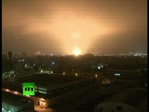 Libya air strike video: NATO missiles hit Tripoli hard