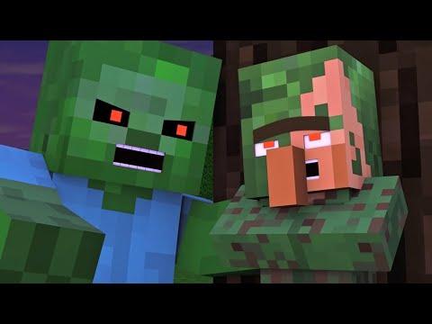 Villager & Witch Life 5 - Alien Being Minecraft Animation