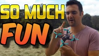 WIN THE RACE.. while flying a micro drone?? GepRC sparrow review part 2.