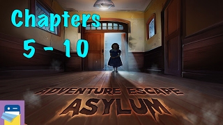 Adventure Escape Asylum: Chapters 5, 6, 7, 8, 9, 10 Walkthrough Guide & iOS / Android Gameplay