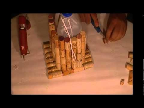 How To Make A Wine Corks Bird Feeder Youtube