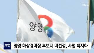 양양 화상경마장 후보지 미선정, 사업 백지화
