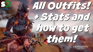 Horizon: Zero Dawn All outfits with stats and how to obtain them plus 360 degree reference video!