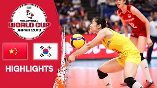 CHINA vs. KOREA - Highlights | Women's Volleyball World Cup 2019
