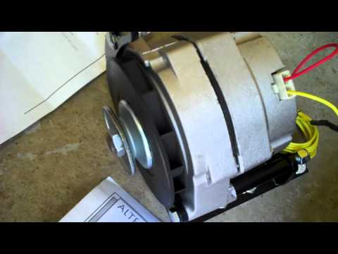 chevy 235 Alternator setup