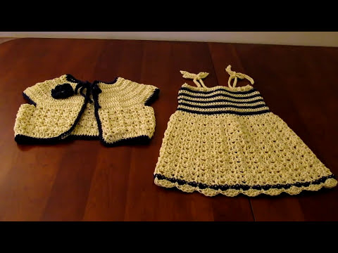 Crochet child sundress and matching bolero