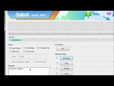 Galaxy S3 - Atualização do Bootloader XXELLA usando o ODIN