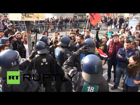 Germany: Protesters clash with police at anti-Turkey rally in Frankfurt