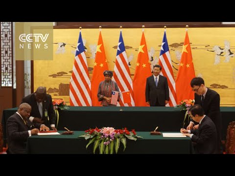 Chinese President Xi Jinping welcomes Liberian president