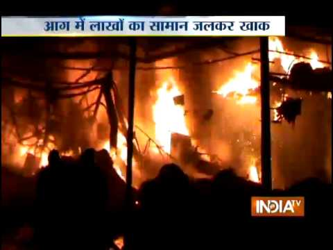 Surat: Fire Engulfs Textile Mill - India TV