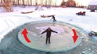 AMAZING SPINNING ICE ISLAND!!