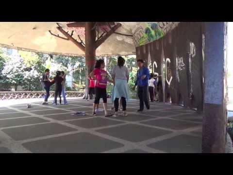 Sexy Filipina College Students Playing and Practicing Dance - Baguio City, Philippines (10/27/2013)