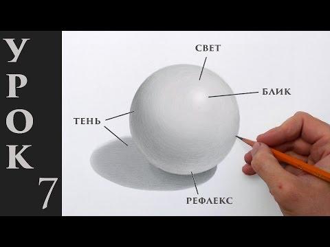Как нарисовать объем! Основы светотени в рисунке карандашом.