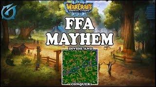 Grubby | Warcraft 3 TFT | 1.30 | FFA on Divide and Conquer - FFA Mayhem