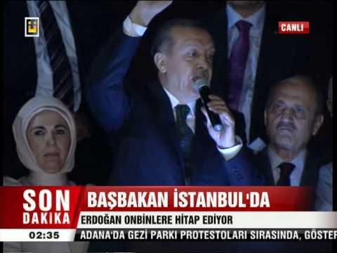Başbakan Recep Tayyip Erdoğan Havalimanı Otobüs üstü konuşması 7 Haziran 2013