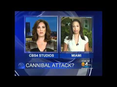 Miami Police Shoot & Kill Hannibal Man while Eating 80% of a Homeless Man's Face! (May 28, 2012)