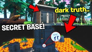 I found the PRO BUILDER's dark secret in his Secret Base.. (Fortnite)