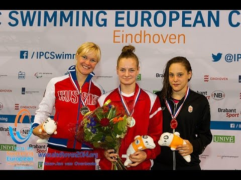 Women's 100m butterfly S10 | Victory Ceremony | 2014 IPC Swimming European Championships