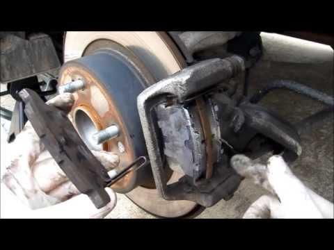 How to change a Honda Accord 2008 EX Rear Brake Change 2009 2010 2011 2012 2013 2014