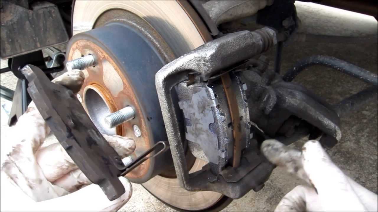 How to change a Honda Accord 2008 EX Rear Brake Change ...