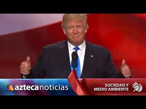 Trump es oficialmente el candidato republicano a la Presidencia de EU