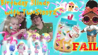 Birthday Blind Bag Opening & Confetti Pop FAIL: Trolls, Pooparoo, LOL Surprise, Num Noms, & PMPocket