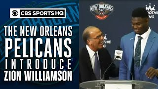 The New Orleans Pelicans introduce No.1 overall pick Zion WIlliamson | CBS Sports HQ