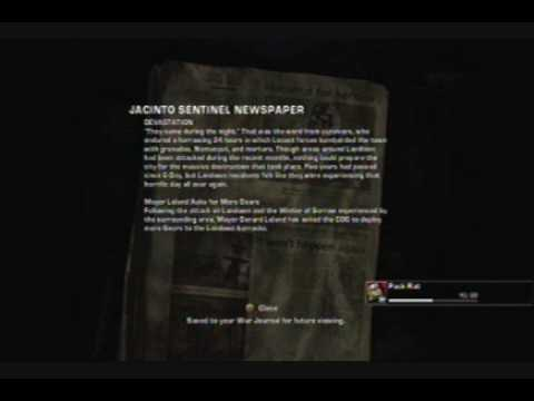 Gears of War 2 - Cog Tags / Collectibles Achievement Guide - Act 1