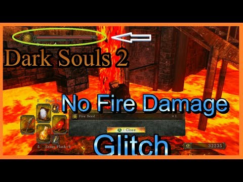 Dark Souls 2: Take No Fire Damage Glitch ~ No lava damage (Chaos Fire Storm)