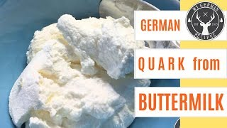 How to make Quark from buttermilk ✪ easy & quick DIY ✪ MyGerman.Recipes