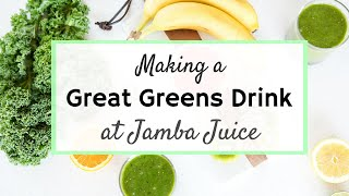 Making A Great Greens Drink at Jamba Juice