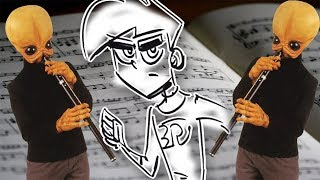'Cantina Theme' Played by Drawing a Cartoon... Danny Phantom! (Pencil Girl Homage)
