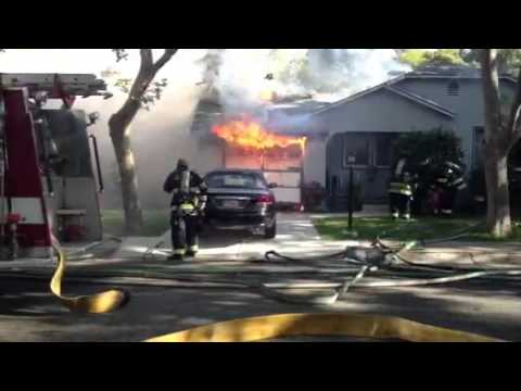 Vallejo fire fighters battle house fire