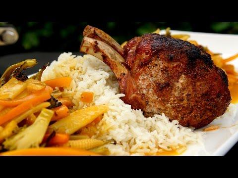 Pork Rib Roast & Mango Chutney Sause - Barbecue meal recipe on the GRILL DOME