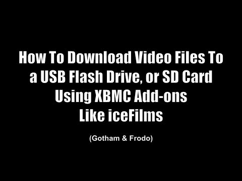 XBMC Tutorials - How to Download Files to SD Card or USB Drive on XBMC/Kodi