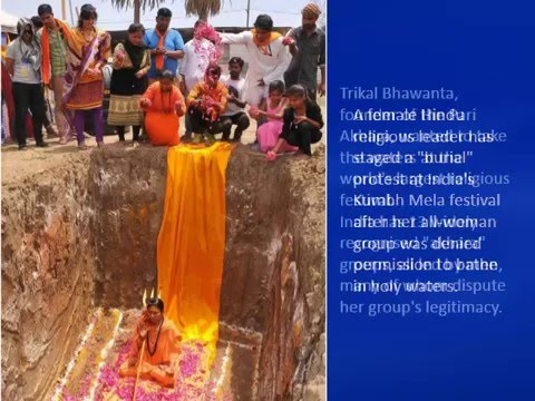 Burial protest over gender equality at Kumbh Mela