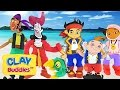 Play Doh Super Pack Clay Buddies Disney Jake and The Never Land Pirates Plastilina Piratas Juguetes