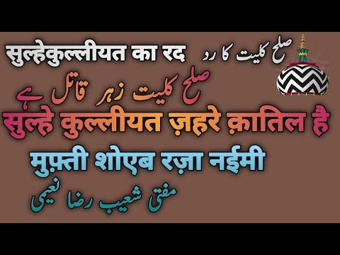 part24 of 112 Aaina e sulah kulliyat  Mufti Shoaib Raza by alahazrat network p