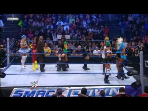 Alicia Rosa Laycool vs Bella Twins Melina Kelly