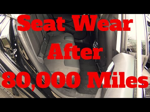 Tesla Model S: Textile Seat Wear after 80.000 Miles and 2 1/2 years of Heavy Use!