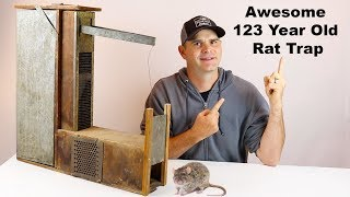 Catching Rats With a 123 Year Old Trap Invented By A Mechanical Genius. Mousetrap Monday