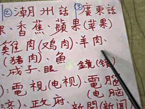 Chinese dialects: comparison between Mandarin, Teochew, Cantonese, Taiwanese. Enjoy !