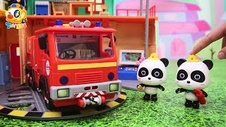 Super Panda Rescue Team, Baby Panda's Cooking Competition, Dinosaur Story   Kids Toys Story   ToyBus